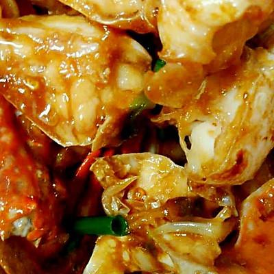 姜葱炒花蟹(梭子蟹)
