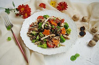 黑蒜藜麦鸡肉沙拉#肉食者联盟#