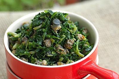 突破传统的新吃法--马兰拌螺肉
