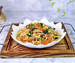 #餐桌上的春日限定#黑木耳胡萝卜炒豆芽的做法