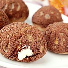 #以美食的名义说爱她# 巧克力酥皮泡芙