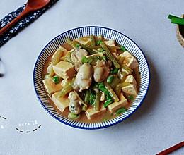 菜豆烧油蚝蛎海的做法