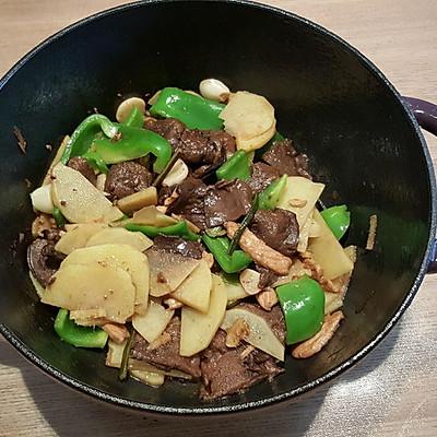 松茸土豆炒肉片