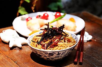 《麦田与收割者》—葱油面配香煎银鳕鱼#我的玩味生活#
