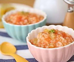 宝宝辅食食谱  番茄丝瓜补钙粥的做法