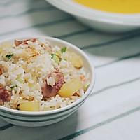 土豆腊肠焖饭的做法图解13