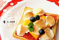 快手吐司——烤棉花糖芒果吐司的做法