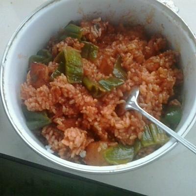 自創番茄醬炒飯