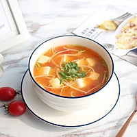 暖心暖胃【茄汁金针菇豆腐汤】的做法图解10