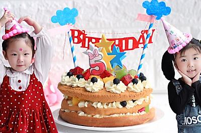 120秒做出来的水果裸蛋糕,距离甜点大师就差这一步!