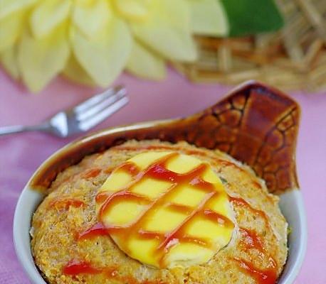 蛋黄蒸肉饼的做法