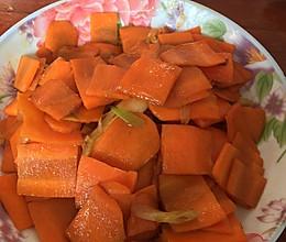 素炒胡萝卜片的做法