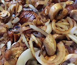 洋葱蘑菇烤鸡翅的做法