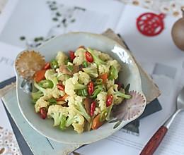 香炒有机花菜的做法
