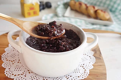 红枣山药板栗黑米粥|滋补