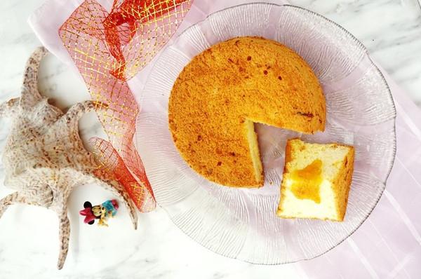 柚子茶戚风蛋糕的做法