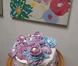 奶油紫薯蛋糕的做法