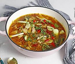 超有食欲的酸菜水煮肉~的做法