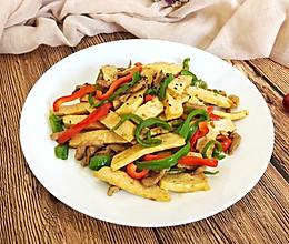 青椒肉丝炒白干的做法