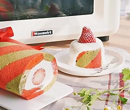 圣诞节经典双色蛋糕卷的做法