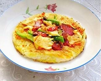 米饭披萨(非烤箱版、非微波炉版)