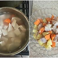 秋季甜蜜滋补甜汤~红豆芋头甜薯汤的做法图解3