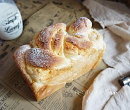 肉松奶酪波兰种麻花吐司 香浓松软早餐面包的做法