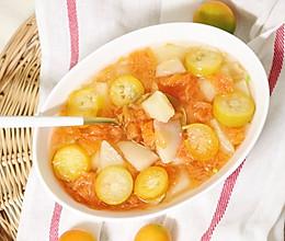 冰糖炖雪梨金桔西柚的做法
