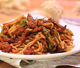 青椒肉丝炒面的做法