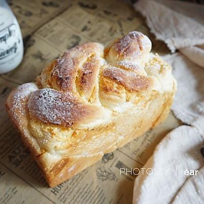 肉松奶酪波兰种麻花吐司 香浓松软早餐面包