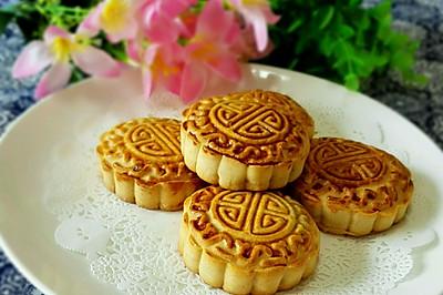 广式紫薯月饼#手作月饼#