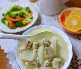 白萝卜炖护心肉汤的做法