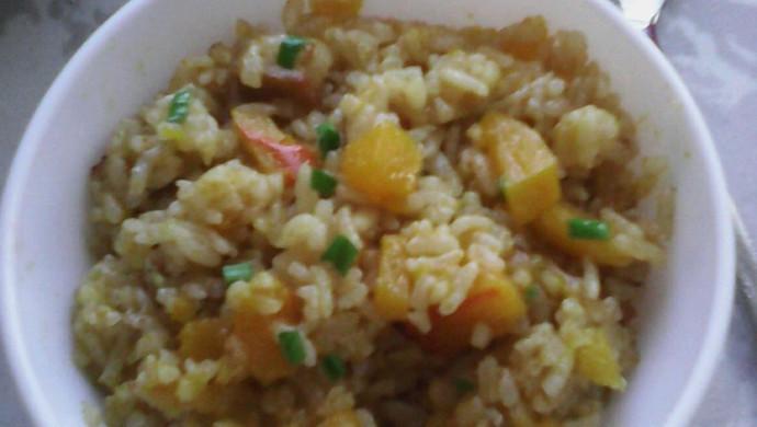 香甜软糯的南瓜饭