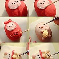 只需捏一捏,輕松做超萌紅豆酥禮盒~的做法圖解4