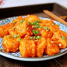 #入秋滋补正当时#开胃下饭的茄汁脆皮豆腐