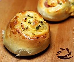 #东菱魔力果趣面包机之_培根芝士面包的做法