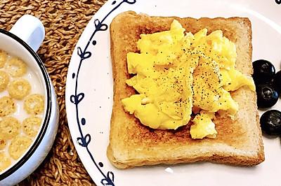 美式煎蛋吐司——快手早餐