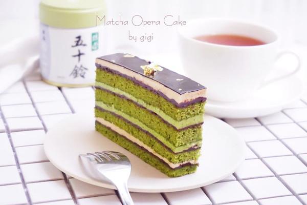 抹茶歌劇院蛋糕#有颜值的实力派#的做法