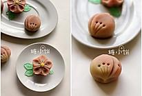 【和果子。樱】练切饼皮。附装饰用锦玉 的做法