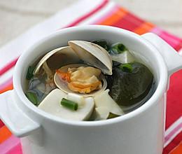 海带豆腐蛤蜊汤的做法