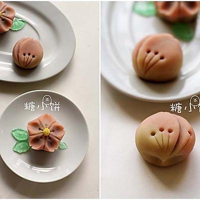 【和果子。樱】练切饼皮。附装饰用锦玉