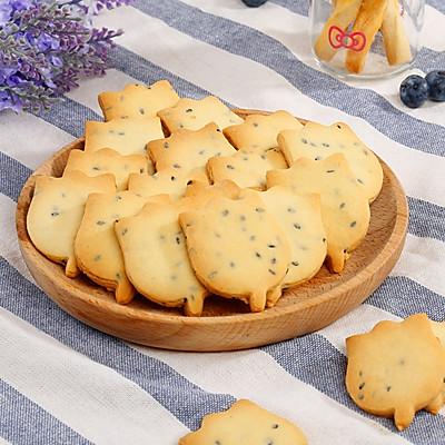 奶香浓郁的芝麻曲奇饼干