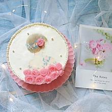 唯美女孩背影蛋糕,简单又精致好吃