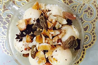 棉花糖做的酸奶冰淇淋