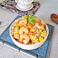 米饭这样吃香到舔手指-虾仁焖饭