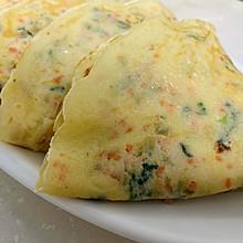 蔬菜牛奶蛋饼#换着花样吃早餐#