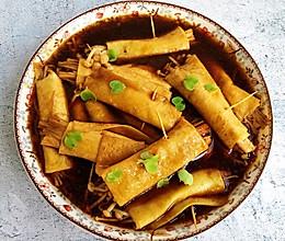 好吃到爆炸的干豆腐卷金针菇的做法
