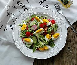 鸡蛋蔬菜沙拉#黑人牙膏一招制胜#的做法