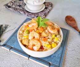 米饭这样吃香到舔手指-虾仁焖饭的做法
