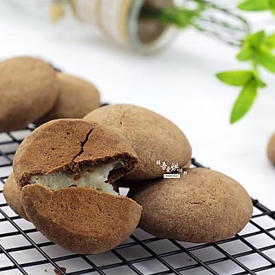拉丝的巧克力麻薯饼干